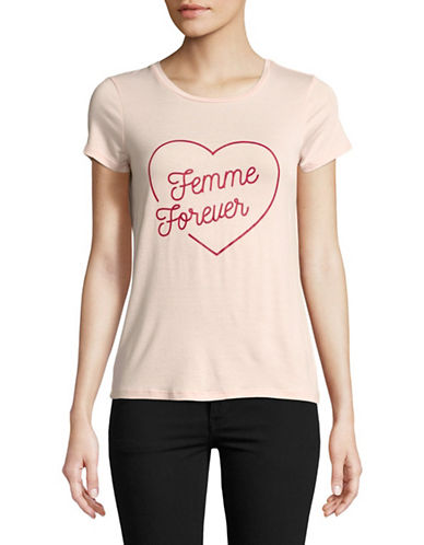 Highline Collective Femme Forever Printed Tee-PINK-Large