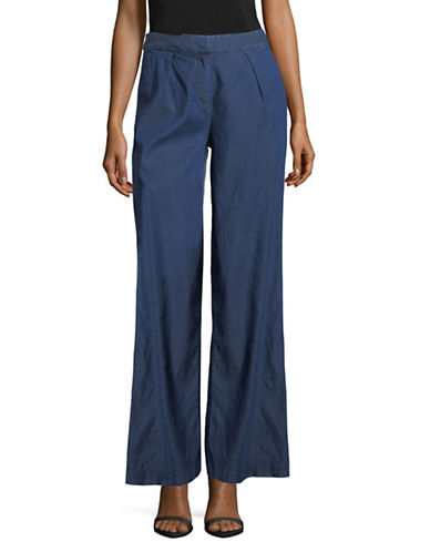H Halston Wide-Leg Trousers-BLUE-8
