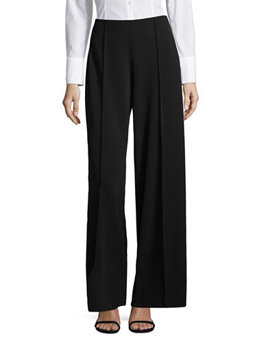 Imnyc Isaac Mizrahi Mid-Rise Wide-Leg Pants-BLACK-Medium