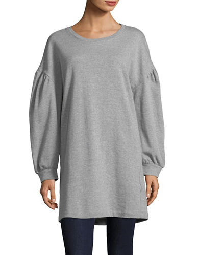 Highline Collective Oversized Balloon-Sleeve Cotton Sweatshirt-GREY-Large