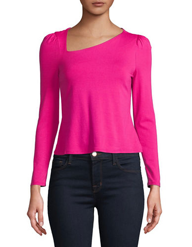 Highline Collective Asymmetric Shirred Shoulder Top-PINK-Medium 89718618_PINK_Medium