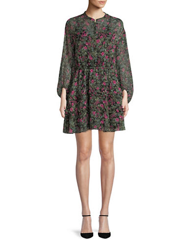 Highline Collective Printed Balloon-Sleeve Dress-MULTI-Small