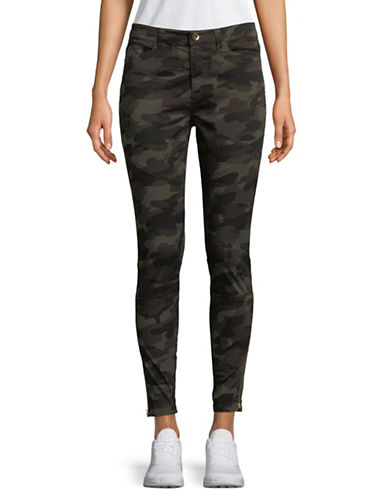 Highline Collective Camo Moto Skinny Pants-OLIVE CAMO-14