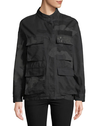 Highline Collective Camo Cotton Utility Jacket-BLACK-Medium