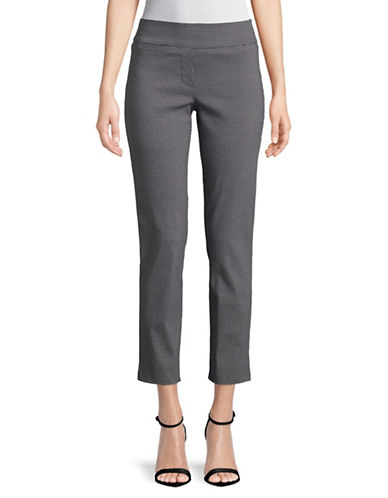 Imnyc Isaac Mizrahi Slim Straight Ankle-Length Pants-GREY-Small