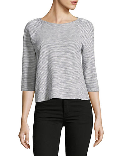 Highline Collective Raglan-Sleeve Cotton Top-GREY-Large 89793726_GREY_Large
