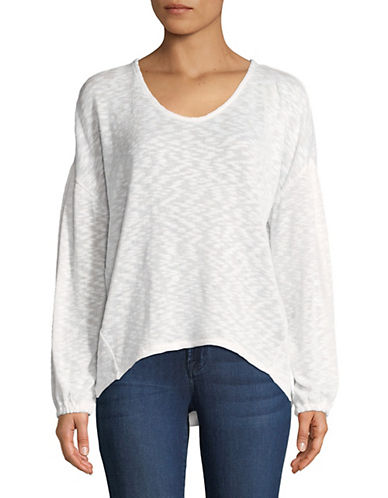 Highline Collective Balloon-Sleeve Top-WHITE-X-Small 89793758_WHITE_X-Small