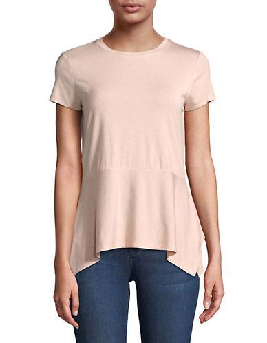 Ivanka Trump Drape Hem T-Shirt-PINK-X-Small 90045725_PINK_X-Small