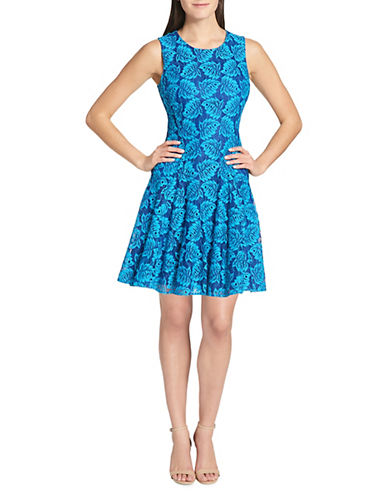 Tommy Hilfiger Botanical Palm Lace Fit-and-Flare Dress 90093892