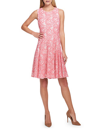 Tommy Hilfiger Paisley Lace Fit-and-Flare Dress 89992727