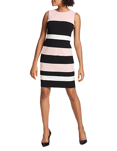 Tommy Hilfiger Scuba Crepe Sleeveless Sheath Dress 90130189