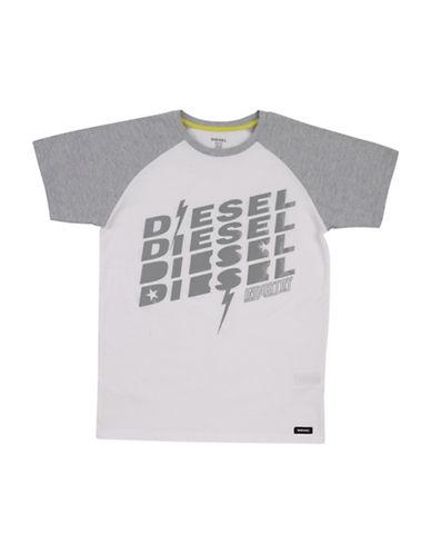 Diesel Raglan SS T-Shirt-WHITE-X-Large