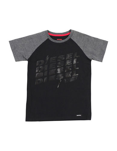 Diesel Raglan SS T-Shirt-BLACK-Large