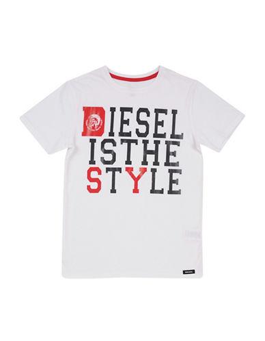 Diesel Logo SS T-Shirt-WHITE-Medium