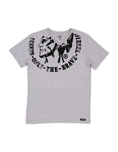Diesel Only The Brave Cotton T-Shirt-GREY-X-Large