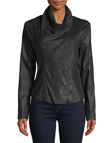 Calvin Klein Fly Away Cowl Neck Jacket-BLACK-Medium 89951139_BLACK_Medium