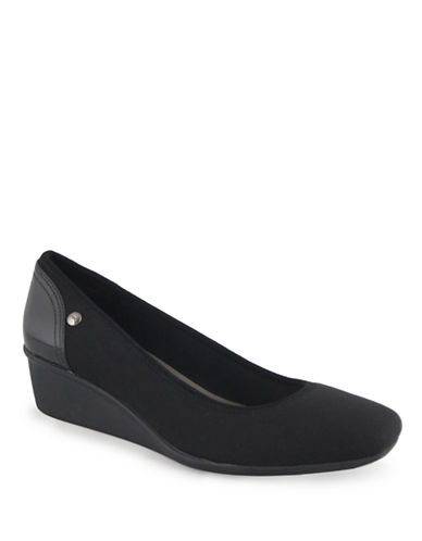 Anne Klein Wisher Sport Wedge Pump-BLACK-9.5