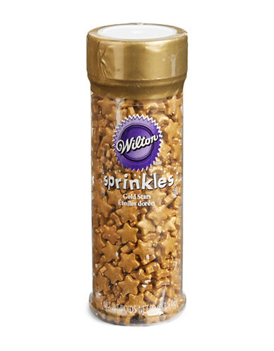 Wilton Pearlized Gold Star Sprinkles-GOLD-One Size 88504851_GOLD_One Size