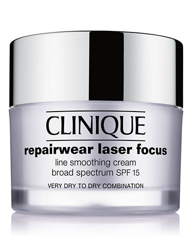 Clinique Repairwear Laser Focus SPF 15 Line Smoothing Cream -  Very Dry to Dry Combination-NO COLOUR-50 ml