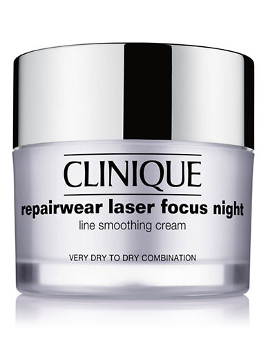 Clinique Repairwear Laser Focus Night Line Smoothing Cream - Very Dry to Dry Combination-NO COLOUR-50 ml