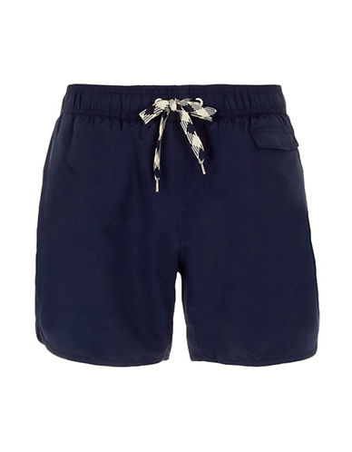 Topman Navy Swim Shorts mid blue XXSmall