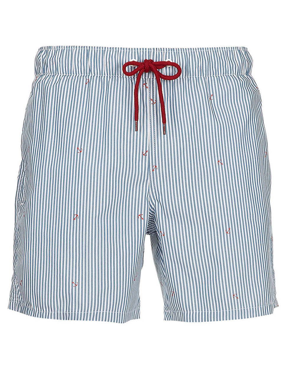 Topman Navy And White Stripe Swim Shorts blue XXSmall