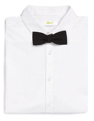 Topman Black Textured Bow Tie-BLACK-One Size