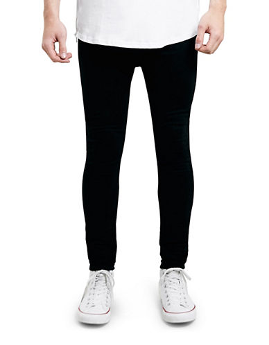 Topman Reuben Spray-On Skinny Jeans-BLACK-32 Long