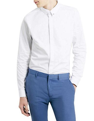 Topman Premium Sport Shirt-WHITE-Large