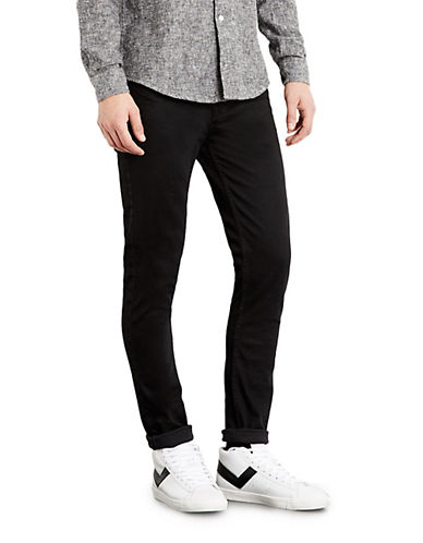 Topman Overdyed Stretch Skinny Jeans-BLACK-34 Long