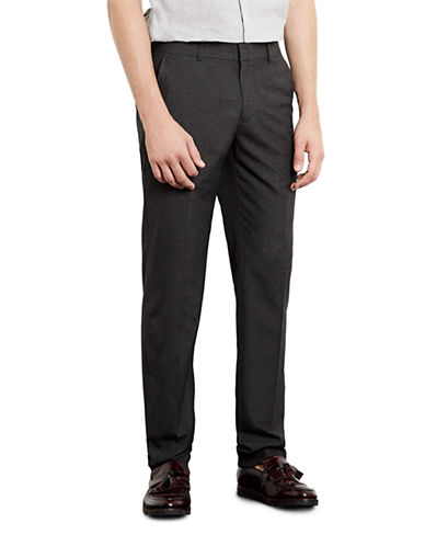 Topman Charcoal Skinny Smart Trousers-CHARCOAL-30 Long