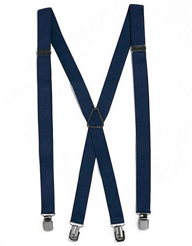 Topman Skinny Suspenders-NAVY-One Size