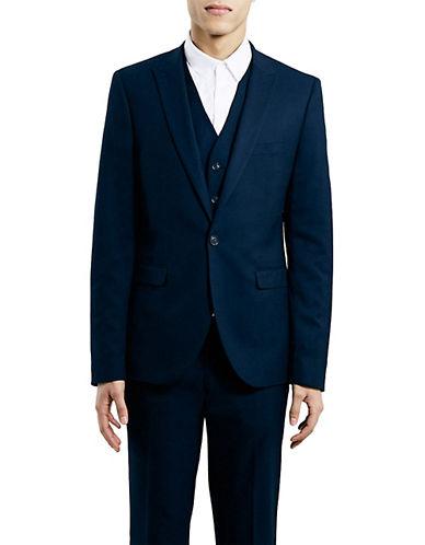 Topman Textured Ultra Skinny Sport Jacket-DARK BLUE-42