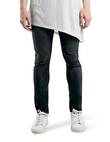 Topman Stretch Skinny Jeans-GREY-34 Long