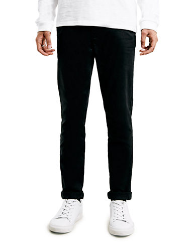 Topman Stretch Skinny Chinos-BLACK-34 Short