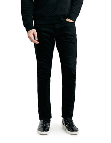 Topman Stretch Slim Jeans-BLACK-30 Short