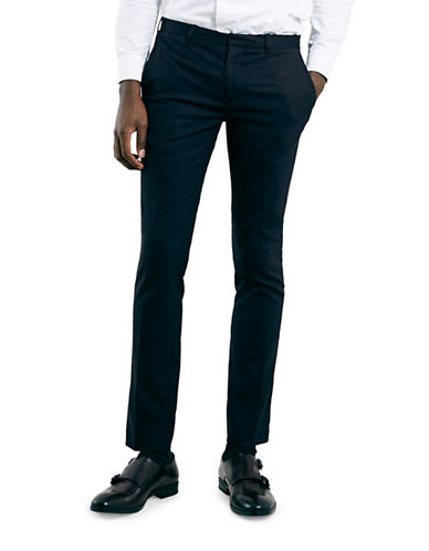 Topman Ultra Skinny Dress Pants-DARK BLUE-32