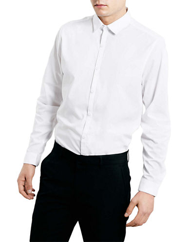 Topman Slim Sport Shirt-WHITE-Large