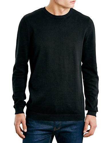 Topman Essential Crew Neck Pullover-BLACK-Small 87816684_BLACK_Small