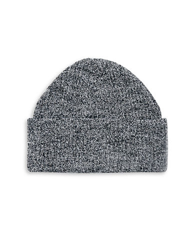 Topman Rib Turn Up Tuque-CHARCOAL-One Size