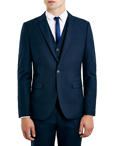 Topman New Fit Skinny Suit Jacket-DARK BLUE-36