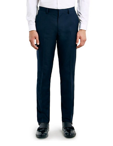 Topman Skinny Dress Pants-DARK BLUE-34 Short