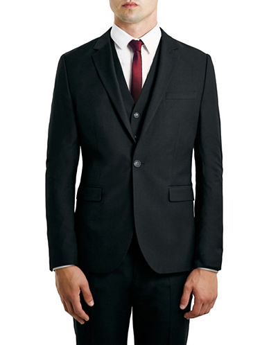 Topman New Fit Skinny Suit Jacket-BLACK-38