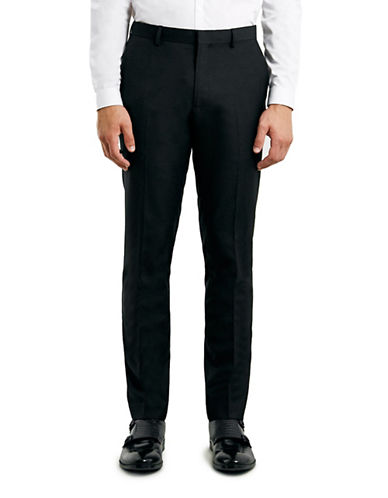 Topman Skinny Dress Pants-BLACK-34 Short