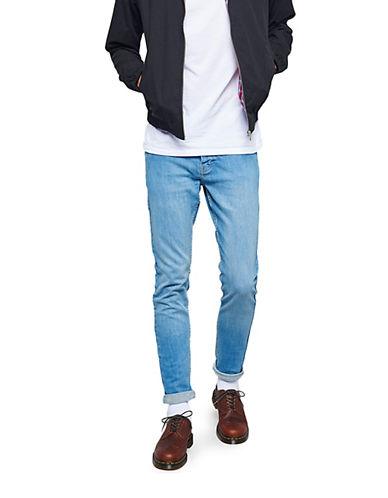 Topman Stretch Skinny Jeans-BLUE-32