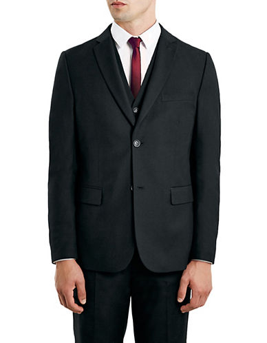 Topman New Fit Slim Sports Jacket-BLACK-36