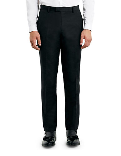 Topman New Fit Skinny Dress Pants-BLACK-28 Short