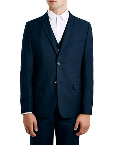 Topman New Fit Slim Sports Jacket-DARK BLUE-34