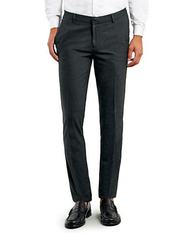 Topman Ultra Skinny Dress Pants-CHARCOAL-32