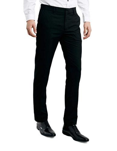Topman Skinny Dress Pants-BLACK-32 Long